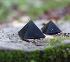 Set of 2 shungite pyramids Karelia, magic stone, crystal, harmonizer, Reiki