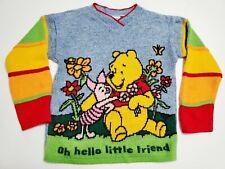 Vintage Winnie The Pooh Sweater Size 4 Disney Piglet Boys Girls