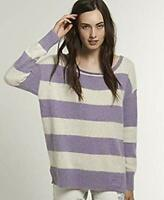Superdry Womens Edie Crew Purple Jumper Sweater Top Size L *NCN