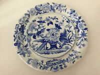 "Rare Antique Dresden Opaque China Blue & White Platter, 13 1/2"" Diameter"
