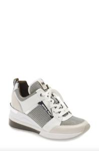 MICHAEL Michael Kors Women Khaki Georgie Trainer Extreme Sneaker Size 10 NWOB