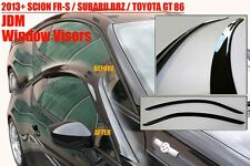 2013+ Scion FRS FR-S Subaru BRZ Toyota GT86 Window Sun Rain Guard Visors Kit