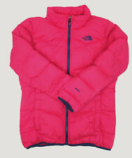 $299 The North Face Kids Girls Pink Navy Andes Down Full-Zip Coat Jacket Size XL