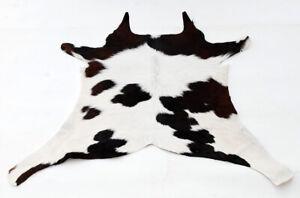 "Rare Cowhide Rugs Calf Hide Cow Skin Rug (27""x29"") White and Brown CH8327"