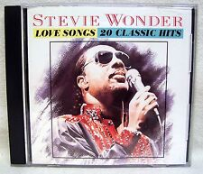 Stevie Wonder Love Songs 20 Classic Hits CD USED CD