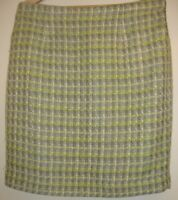 LAURA ASHLEY Smart Check Warm Autumn Winter Skirt Bright Size 16 Lined