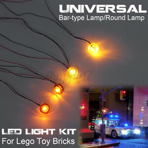 Universal LED Light Lighting Kit For Lego Toy Bricks 4 Bar-type /Round  x. Д φ