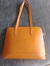 Jack Georges Chelsea Manhattan Business light brown cross grain leather Tote Bag