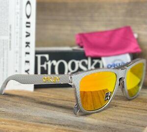 Oakley Frogskins Sunglasses OO9013-C155 Checkbox Silver W/ Fire Iridium Lens