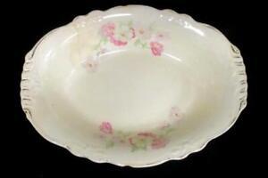 Vintage Homer Laughlin Virginia Rose Tray Platter Floral Pattern Ceramic