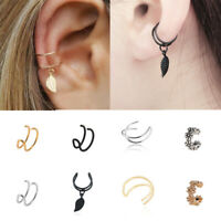 1pc Punk Ear Clip Cuff Wrap Fake Earring Stud Hoop Non Piercing Cartilage New