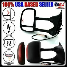 New Towing Mirrors Left & Right 02-07 Ford Superduty Power Heat & Signal