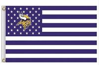 Minnesota Vikings 3x5 Ft American Flag Football New In Packaging