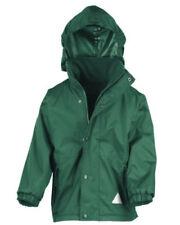 Cappotti e giacche con cappuccio verde in inverno per bambini dai 2 ai 16 anni