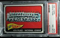 1965 Topps - Giants Team - #379 - PSA 8 - NM-MT