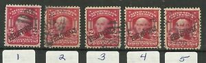 U.S. Possession Philippines stamps scott 240 - 2 cent issue of 1904