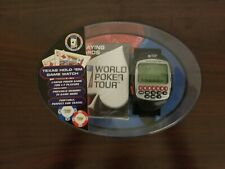 WPT Texas Hold'em Game Watch And Playing Cards Set.  World Poker Tour
