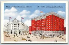 The Hotel Essex in Boston, Massachusetts Terminal Station Postcard Unused