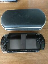 Sony PSP 1000 games console, black, with case, leads and game, used