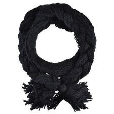 Écharpes et châles noirs en tricot pour femme