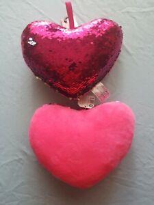 Lovely Soft Stuffed Plush Cushion Nap Rainbow Love Heart Pillow Toys Heart N9J1