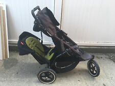 Phil & Teds Classic Double stroller sports jogging black gray green baby toddler
