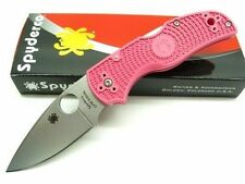 Couteau Spyderco Native 5 Pink Heals Acier S35VN Manche FRN Made USA SC41PPN5