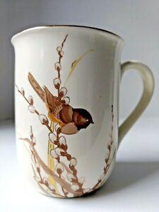 Otagiri  Bird and Pussy Willows Coffee Tea Mug by Gibson Greeting Cards Inc Mint