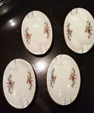 Rosenthal Germany Moss Rose Stacking Ashtrays Trinket Dish #2984 Lot of 4 MINT