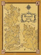 New Game Of Thrones - Westeros & Free Cities 32 in x 24 in - Detailed Map