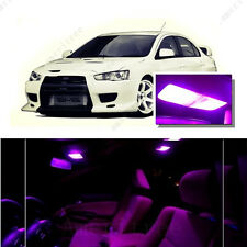 For Mitsubishi Lancer 2008-2015 Pink LED Interior Kit + Pink License Light LED