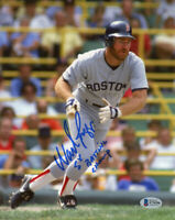 WADE BOGGS SIGNED AUTOGRAPHED 8x10 PHOTO + 5 x BATTING CHAMP RED SOX BECKETT BAS