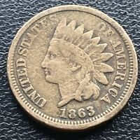 1863 Indian Head Cent 1c One Penny Circulated #23606
