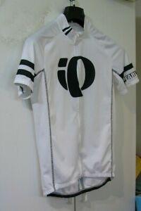 New Pearl Izumi Elite White Flagship Logo Cycling Jersey Shirt Top M medium