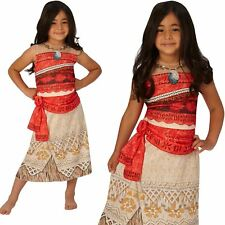 Girls Classic Moana Costume Hawaiian Disney Princess Fancy Dress Book Day Outfit