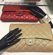 CHANEL Classic Red Leather CC Timeless ShoulderBag Short Chain Clutch NEW Auth