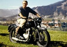 "The Great Escape, Steve McQueen - Motorcycle 1963. Canvas Framed Print 16""x12"""