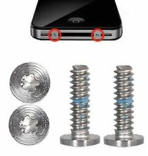 10 X 4/4S Smartphone móvil IPHONE TRASERA CARCASA Pentalobe Tornillos de seguridad Plata
