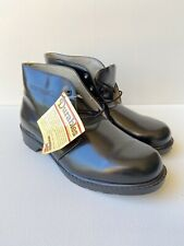 Vtg Deadstock Wolverine Usa Durables Black Leather Lace Up Boots Mens Size 8.5W