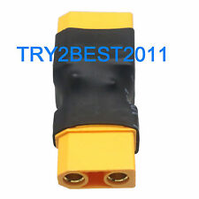 XT90 Parallel Adapter 2 Male to 1 Female Lipo Battery Converter Connector Plug