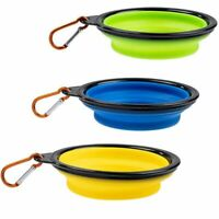 Juvale 3 Pack Collapsible Dog Bowl, Silicone Pet Bowel, for Pets Food Feeding