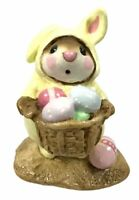 Wee Forest Folk M-82 Yellow Easter Bunny Mouse RETIRED WITH BOX