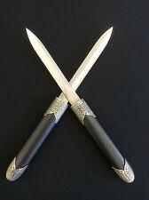 Black Double  Dagger Knives