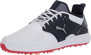 Puma Men's Shoes Ignite PWRADAPT Caged Low Top Lace Up Running, Silver, Size  Fz