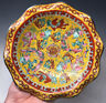 Antique 19th C Chinese Daoguang Enamel Porcelain Pedestal Dish Foo Lions Dragons