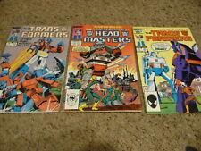 vintage Transformers issues #12 #20 Headmasters #1 (1985-1987 Marvel) comic book