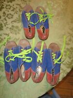 Vintage Wolf Size 6 Men Rental Bowling Shoes Blue Red suede leather women's 7.5