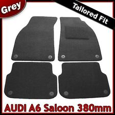 Audi A6 Saloon 380mm Tailored Carpet Car Mats GREY (2004 2005 2006 2007 2008 ..)