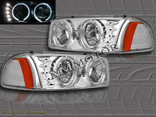 99-06 GMC SIERRA DENALI/ YUKON DENALI 06/ SIERRA 07 HEADLIGHTS CHROME + LED HALO