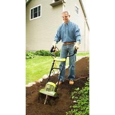 """Small Garden Rototiller Electric Soil Tiller 14"""" Wide Cultivator Aerator Deep Se"""